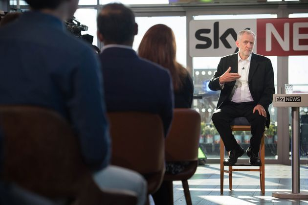 Jeremy Corbyn on SkyNews, his only live TV appearance of the