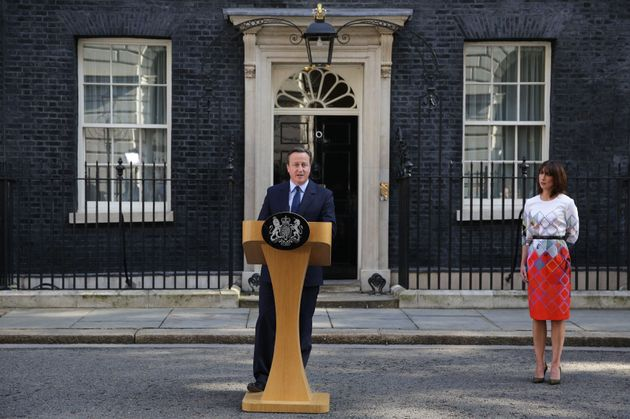 David Cameron announcing he will step down as Prime Minister after Britain voted to leave the European