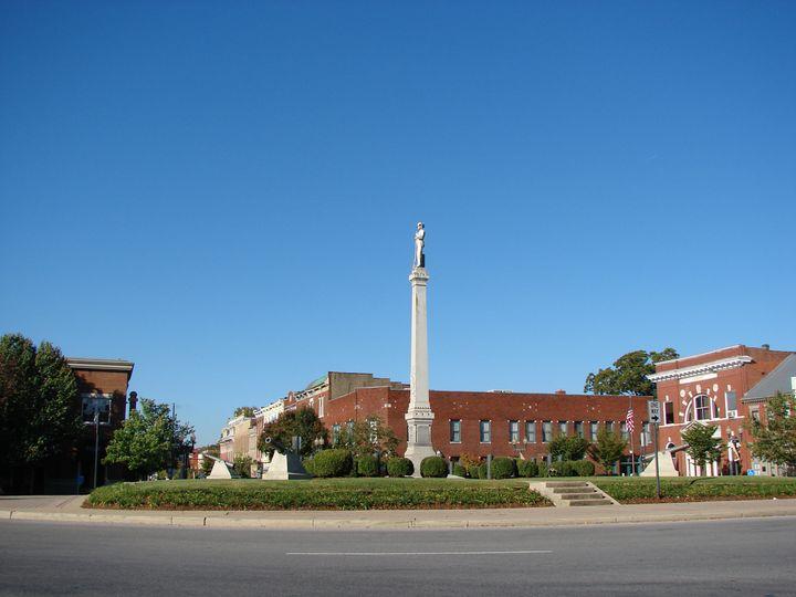 Historic square in Franklin, Tennessee