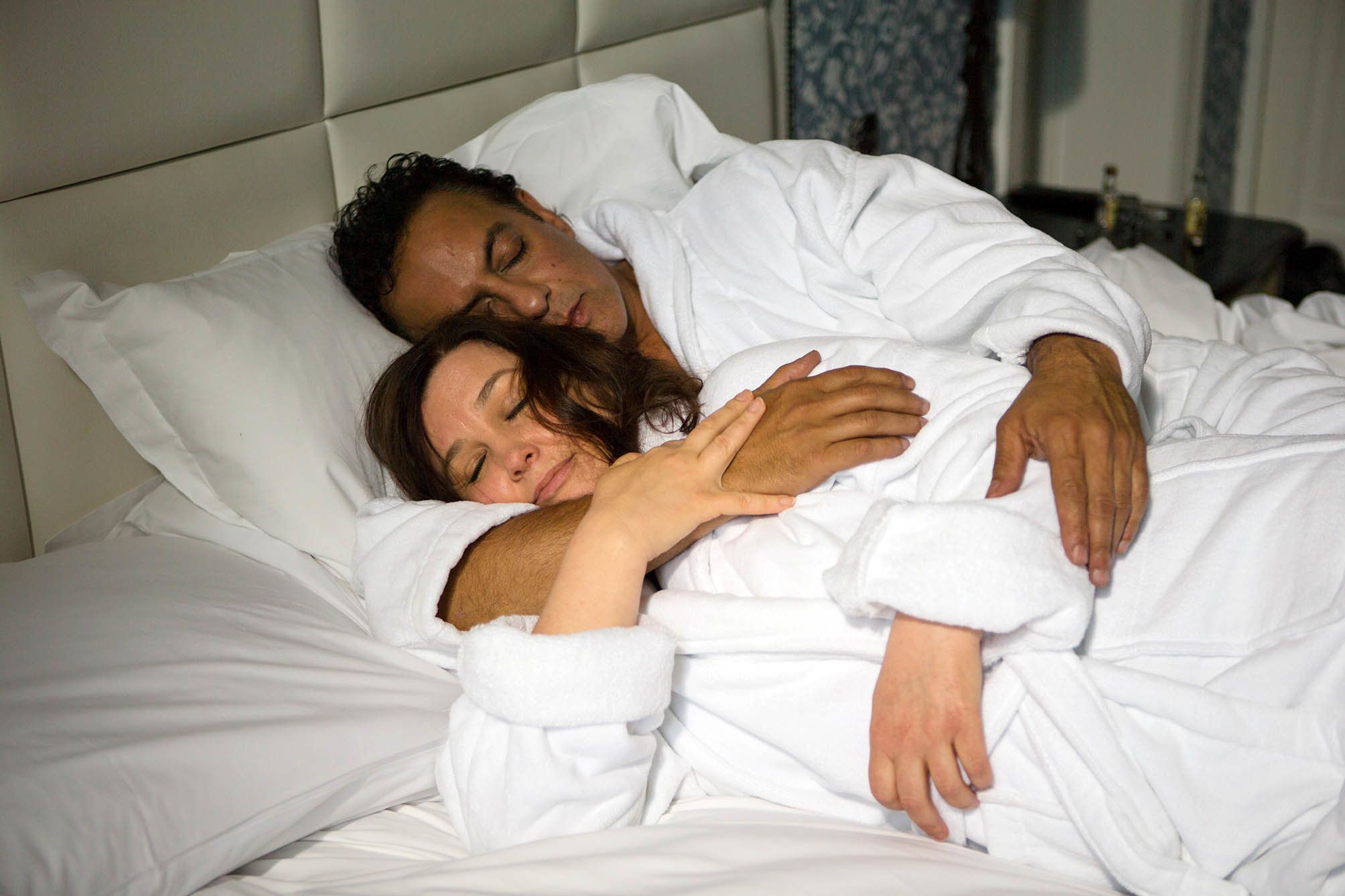 Dev Alahan and Mary Taylor fall into bed together on 'Coronation