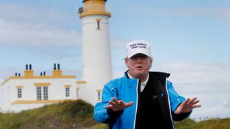 Golf - RICOH Women's British Open 2015 - Trump Turnberry Resort, Scotland - 1/8/15US Presidential Candidate Donald Trump views his Scottish golf course at TurnberryTo match Special Report USA-ELECTION/TRUMP-GOLF Action Images via Reuters / Russell Cheyne/File PhotoLivepic