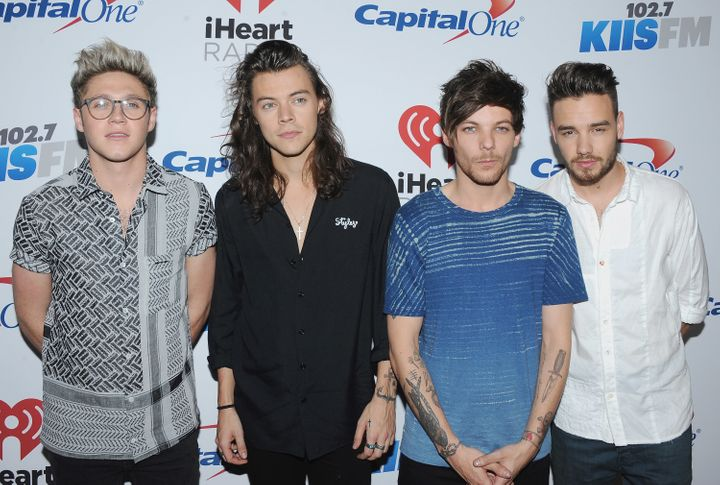 One Direction in 2015, after former member Zayn Malik's exit.