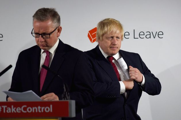 Michael Gove and Boris Johnson, both key figures in the Leavecampaign, celebrated a future Brexit
