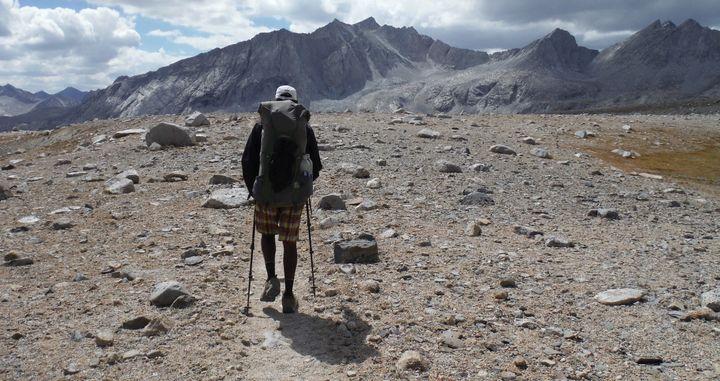 Me, hiking 230 miles through the Sierra's, along the John Muir Trail.