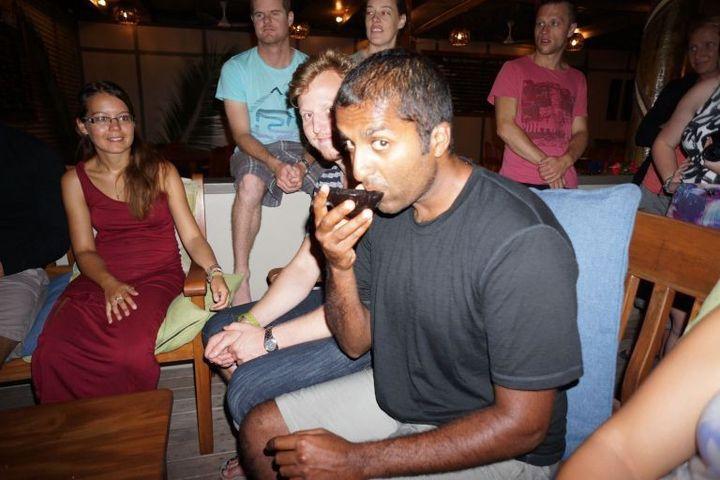 """Partaking in a """"Kava"""" ceremony in Fiji."""