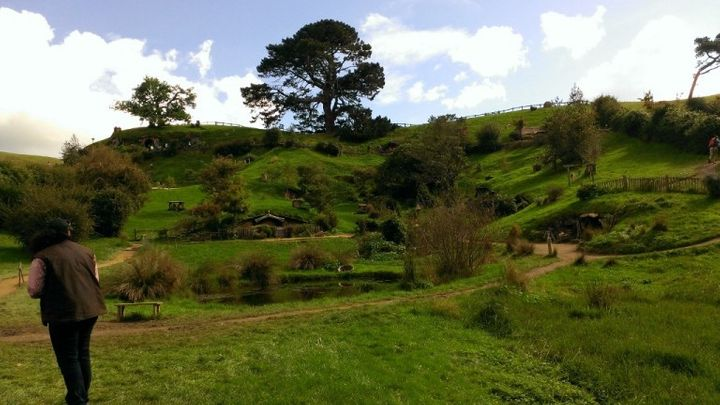 """We visited """"The Shire"""" while touring around New Zeland in a camper-van. Bilbo wasn't home."""