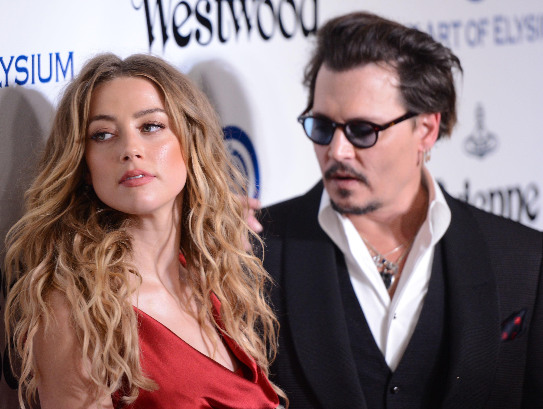 Amber Heard and Johnny Depp onJanuary 9, 2016, in Culver City,