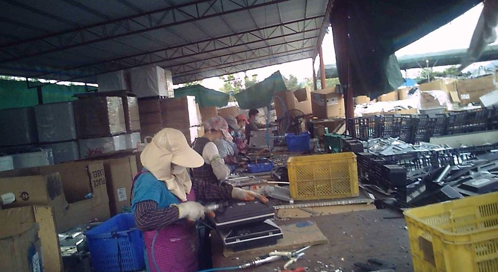 Breaking apart e-waste exposesworkers -- many of whom are undocumented -- to harmful chemicals.