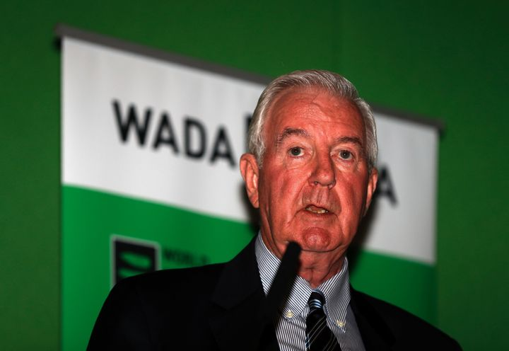 Sir Craig Reedie, President of World Anti-Doping Agency (WADA) speaks at a media symposium at Lord's cricket ground in London