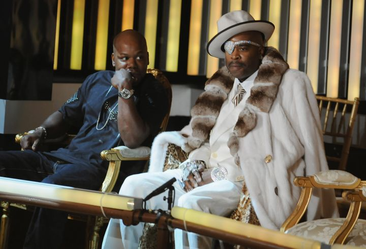 Rapper Too Short and Slick Rick during the 2008 VH1 Hip Hop Honors in New York City.