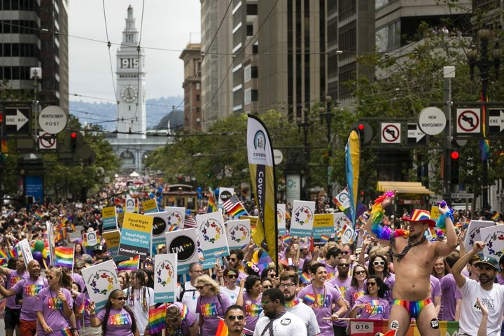 "The theme of San Francisco's Pride parade this year is ""For Racial and Economic Justice,"" but community groups say an increas"