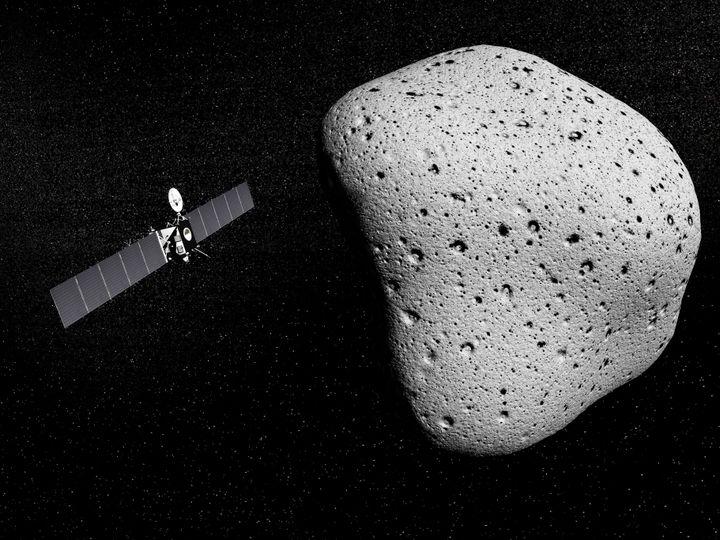 Rosetta probe and comet 67PChuryumov-Gerasimenko.