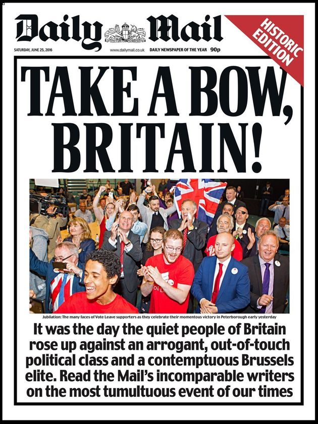 The Express Front Page Wasn't Even The Most Bombastic Of The Brexit