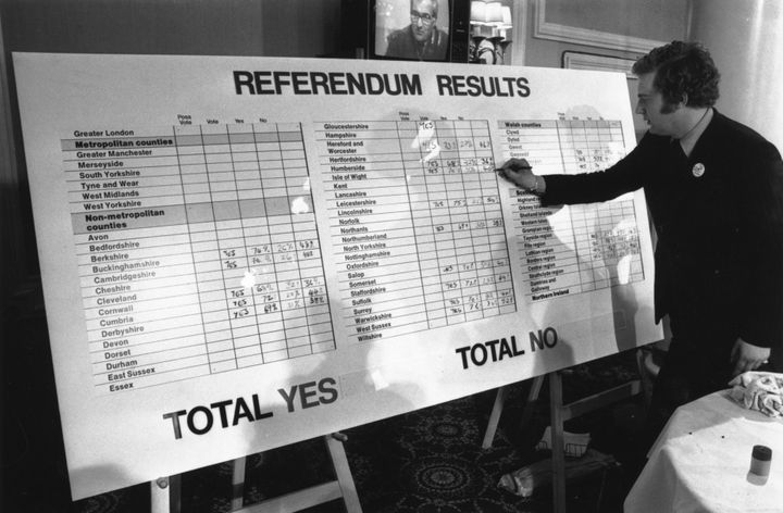 "Britain joined the precursor to the EU in 1973 and held a referendum on membership two years later, which was won by the ""in"""