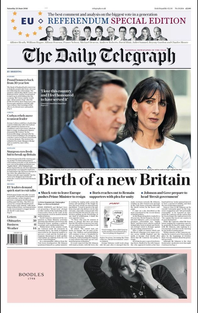 brexit newspaper front pages the daily express and daily