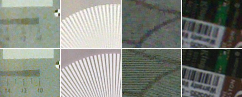 Almalence's SuperZoom apptest, bottom images using SuperZoom
