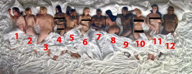Kanye West S Famous Video Features A Naked Taylor Swift Kim Kardashian And Donald Trump But Who S Real Huffpost Uk