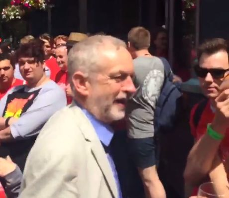 Corbyn shown in video footage as he is confronted by