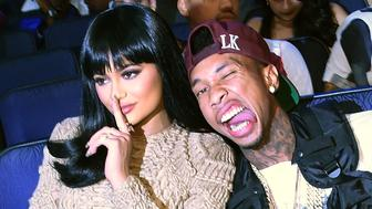 LOS ANGELES, CA - AUGUST 30:  TV personality Kylie Jenner and rapper Tyga attend the 2015 MTV Video Music Awards at Microsoft Theater on August 30, 2015 in Los Angeles, California.  (Photo by Larry Busacca/MTV1415/Getty Images)