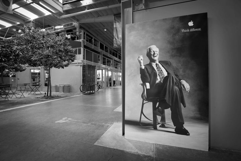 Pictured: Jay Chiat, the advertising genius who asked his architects for the first completely open plan office.
