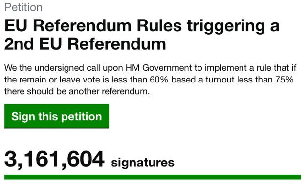 Petition For A Second EU Referendum Under Investigation By Westminster For