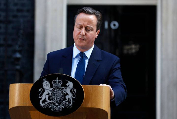 David Cameron speaks after Britain voted to leave the European Union, outside Number 10 Downing Street in London, Britain Jun