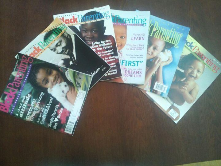 <i>Vintage covers of Successful Black Parenting magazine fostering positive images of Black children in the media.</i>
