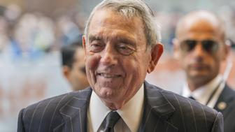 """Dan Rather arrives on the red carpet for the film """"Truth"""" during the 40th Toronto International Film Festival in Toronto, Canada, September 12, 2015. REUTERS/Mark Blinch"""