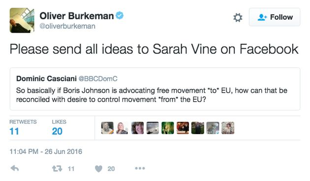 JK Rowling Rubbishes Sarah Vine's Plea For 'Advice And Expertise' After EU Referendum Brexit