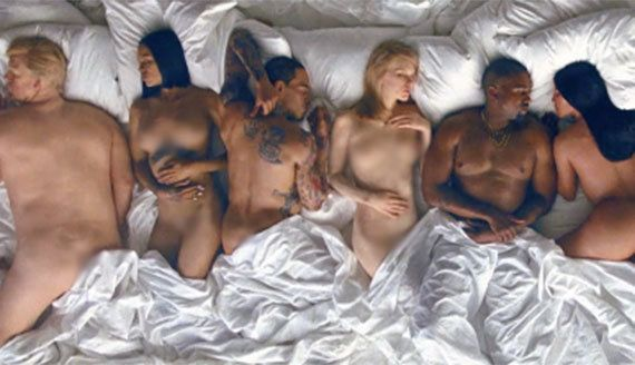 Kanye's 'Famous' video has, unsurprisingly, caused a