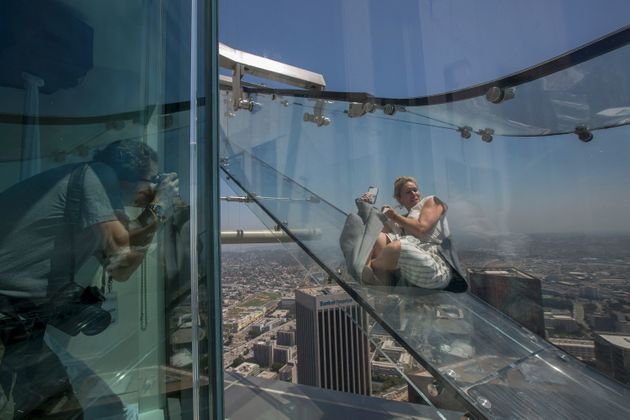 This Terrifying Glass 'Skyslide' Is Not For The Faint Of