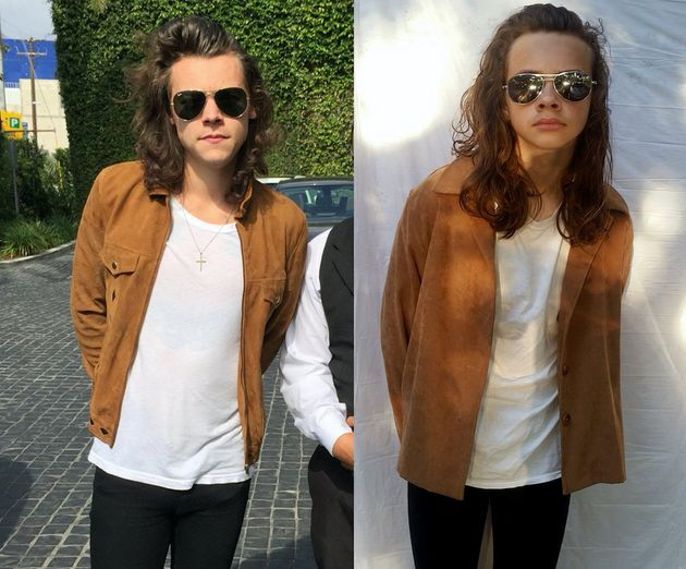 Left: Harry Styles, right: Bailey