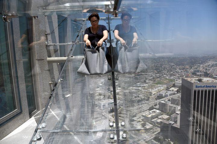 Skyspace La Slide >> This Terrifying Glass 'Skyslide' Is Not For The Faint Of Heart | HuffPost