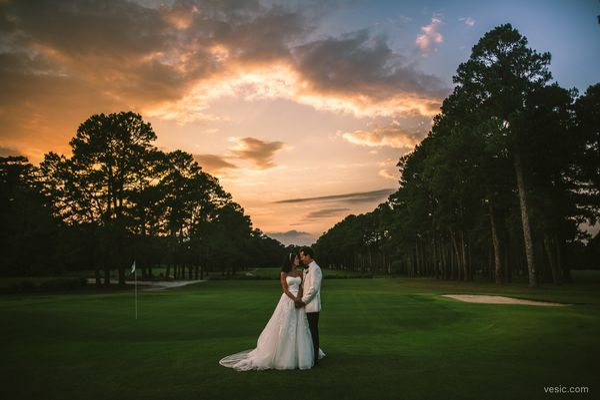 """A beautiful sunset over Kim and Chris Saturday night in Jacksonville, North Carolina."" --<i>Hooman Bahrani"