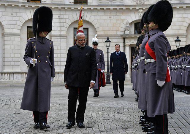 Indian Prime Minister Modi arrives in London