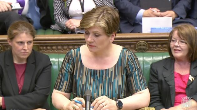 Emily Thornberry in her final Commons appearance in the