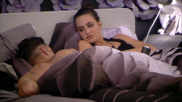 Jackson and Georgina in bed