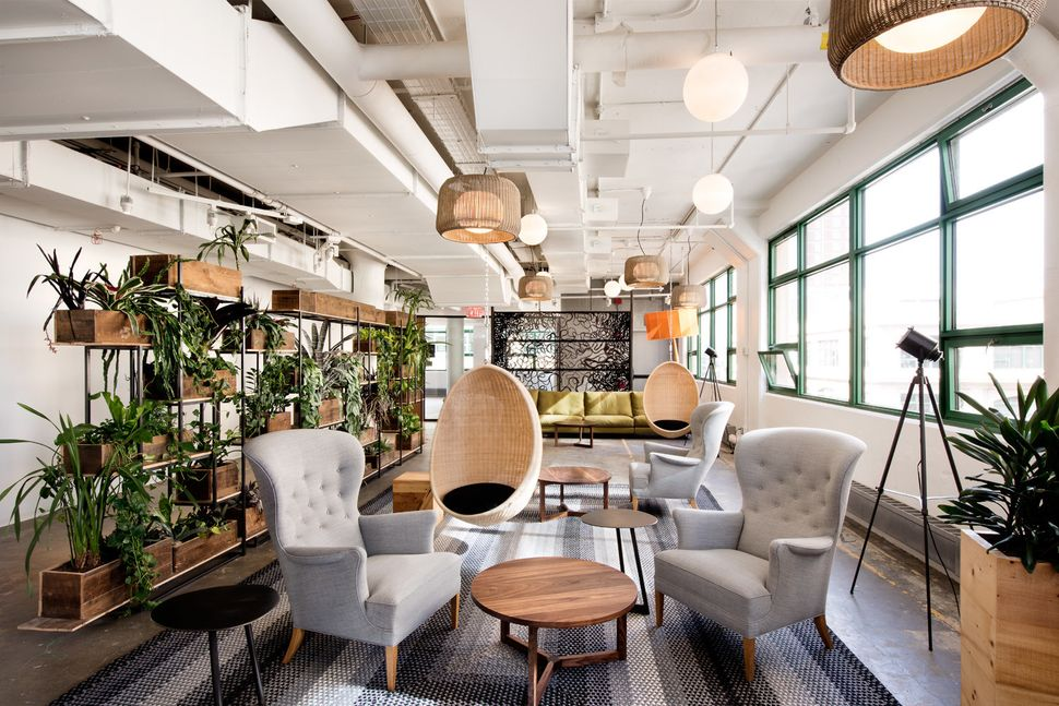 The library at Etsy's new headquarters in Brooklyn.