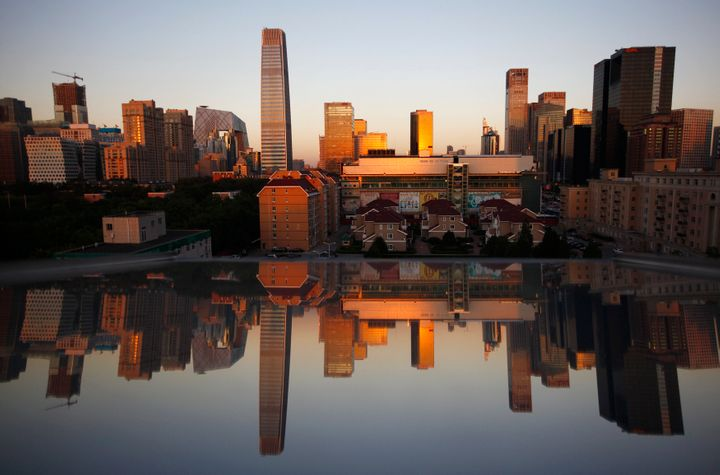 A view of Beijing's Central Business District, identified as one of the areas most prone to sinking.