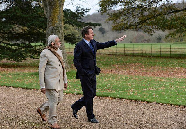 David Cameron welcomes Prime Minister Modi to Chequers