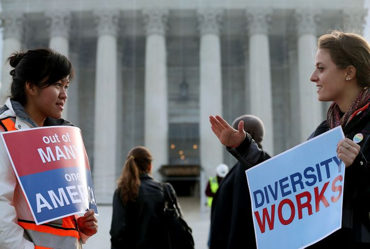 At least the eight justices of the U.S. Supreme Courtinclude three women and two people of color.