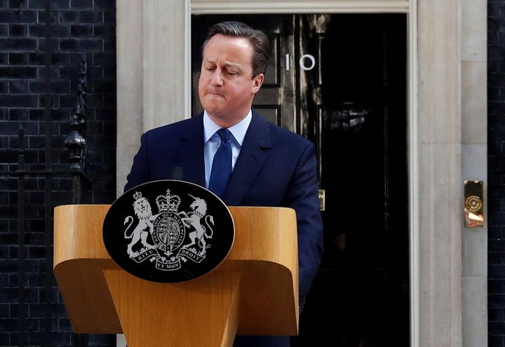 Britain's Prime Minister David Cameron speaks after Britain voted to leave the European Union.