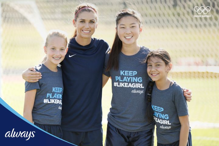 Soccer star Alex Morgan is partnering with Always to encourage girls to stay in sports.