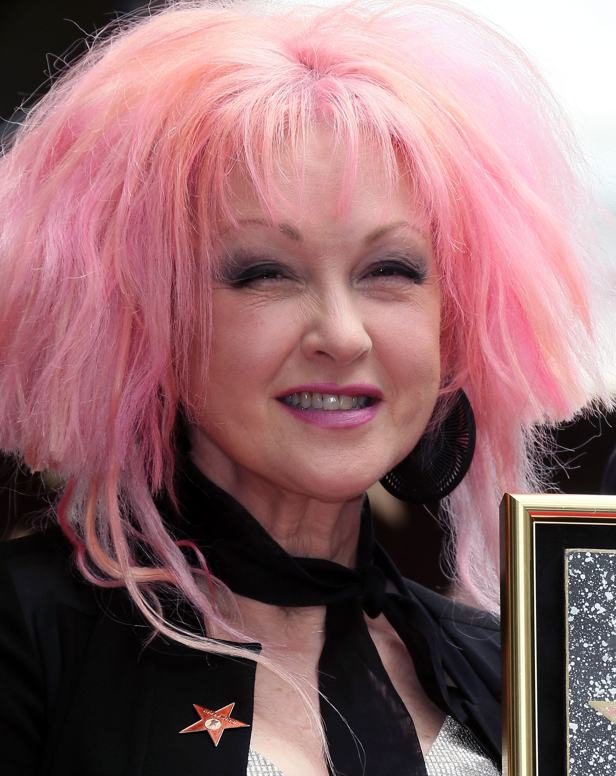 HOLLYWOOD, CA - APRIL 11:  Singer Cyndi Lauper attends Cyndi Lauper and Harvey Fierstein being honored with a Double Star ceremony on the Hollywood Walk of Fame on April 11, 2016 in Hollywood, California.  (Photo by David Livingston/Getty Images)
