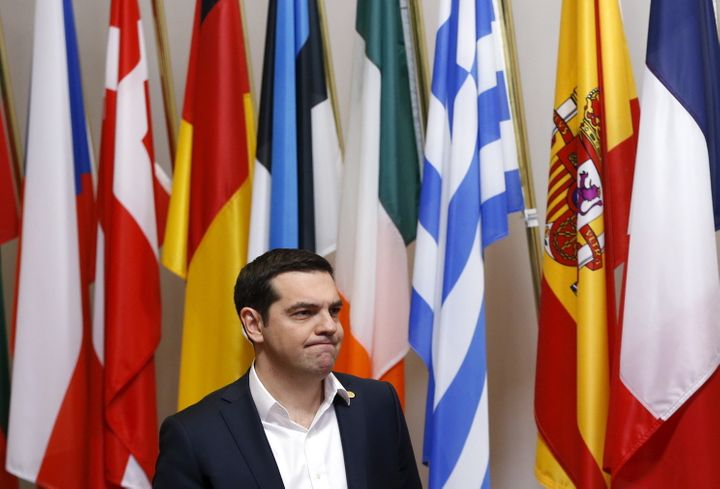 """Greek Prime Minister Alexis Tsiprascould face renewed calls for a """"Grexit""""following Britain's recent and surprisi"""