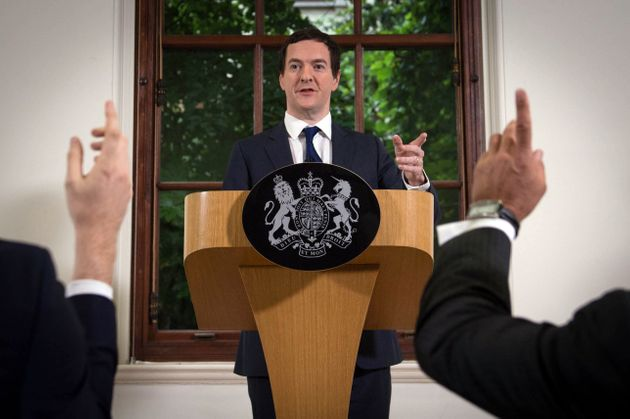 Chancellor George Osborne speaks at The Treasury, London, where he moved to try to calm market turmoil...