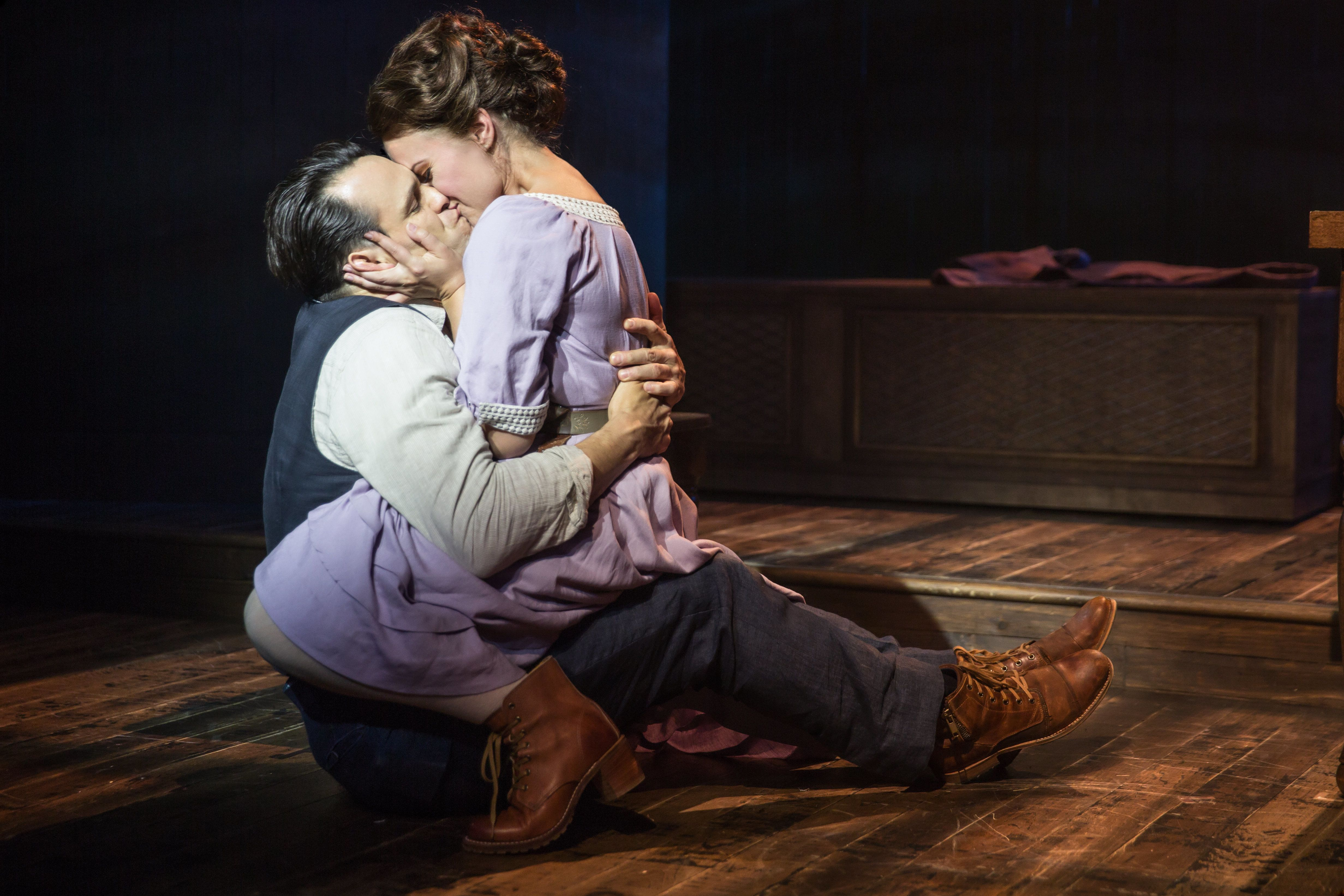 """Matt Bogart and Whitney Bashor star in """"Himself and Nora,"""" now playing at the Minetta Lane Theatre in New York."""
