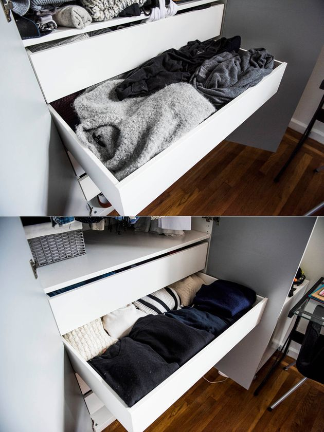 It turns out, folding your sweaters is key. And makes itSO much easier to findthe one you're...
