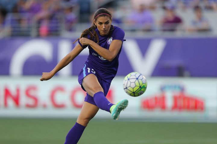 Soccer star Alex Morgan wants to encourage girls to stay in sports.