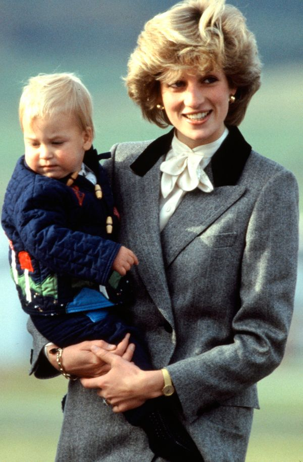 With Prince William.